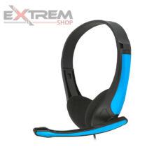 PLATINET Freestyle mikrofonos fejhallgató / headset - Kék