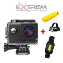 Lamax Action X7.1 Naos Sportkamera + ajándék távirányító, fejpánt, bobber - 2 év garanciával